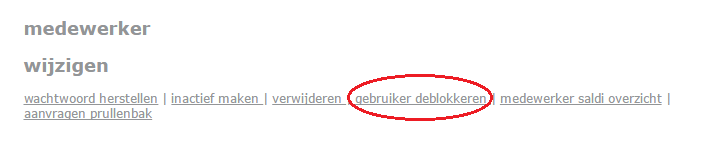 gebruiker deblokkeren