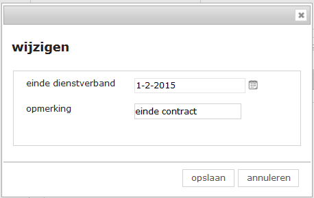 Contract aanpassingen 2