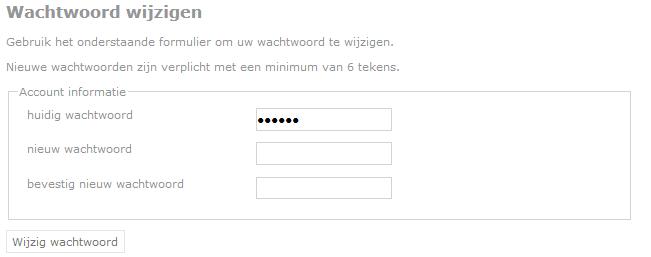 wachtwoord wijzigen