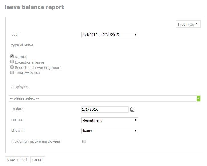leave balance report