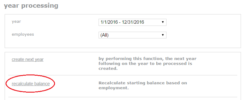 recalculate balance all