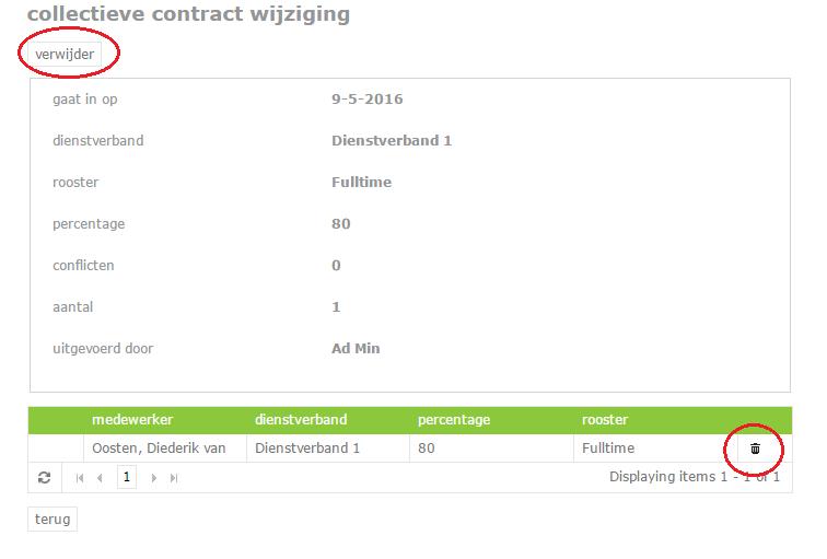 collectieve contract wijziging annuleren 2