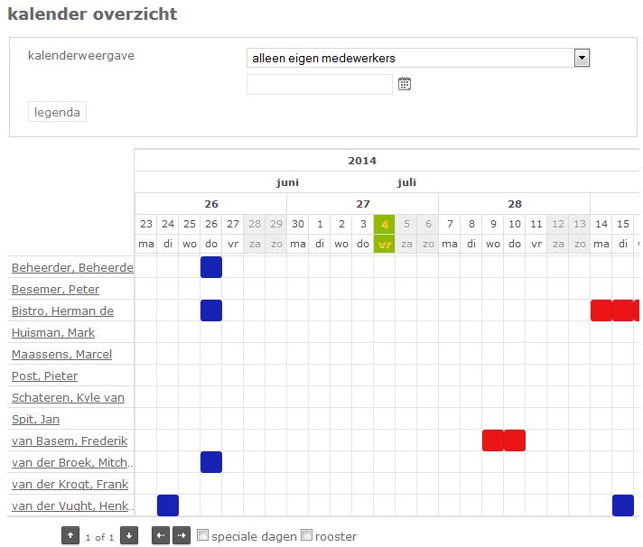 kalenderoverzicht NL man